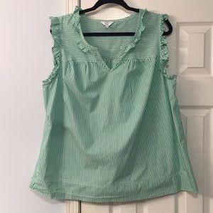 Women's Crown & Ivy ruffled sleeveless top